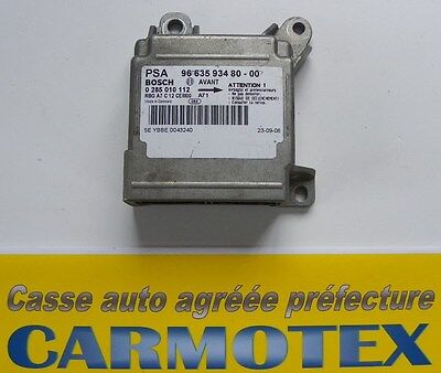 Peugeot 207 Calculateur Airbag Bosch 0285010112 / 9663593480-00