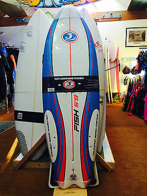 "CALIFORNIA BOARD COMPANY SUSHI FISH SURFBOARD 5'8"" Brand New £150!"