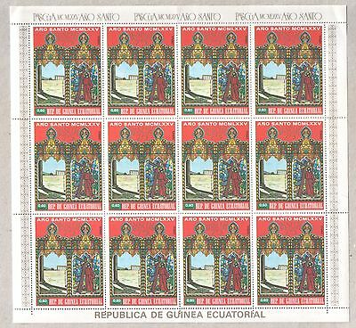 Equatorial Guinea Ecuatorial 1975 Seven Full Sheets of Easter Stamps MNH