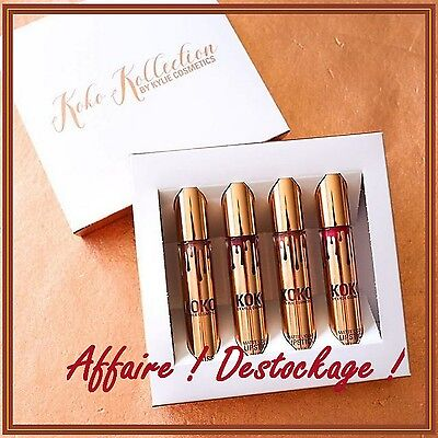Destockage ! KOKO KOLLECTION 4 rouges à lèvres K. JENNER NEUF ! Cosmetics