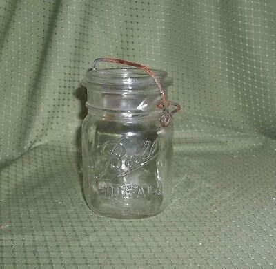 Antique clear Glass Canning Jar