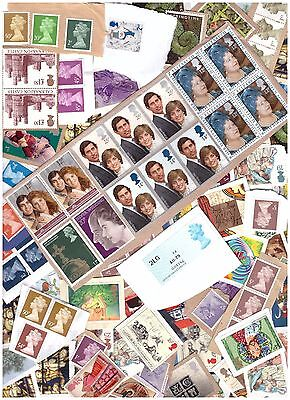 £55+ Face value GB stamps unfranked on/off paper no gum 50% face value