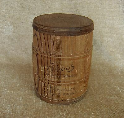 Vintage Briggs Smoking Tobacco Wood Barrel Humidor When A Feller Needs A Friend