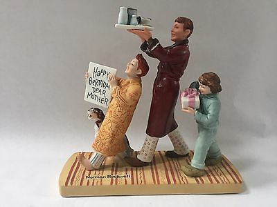 Norman Rockwell Happy Berthday Dear Mother Figurine