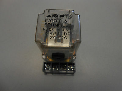 Potter & Brumfield Krp11Dg 8 Pin Ice Cube Relay W/base Socket 24 Vdc