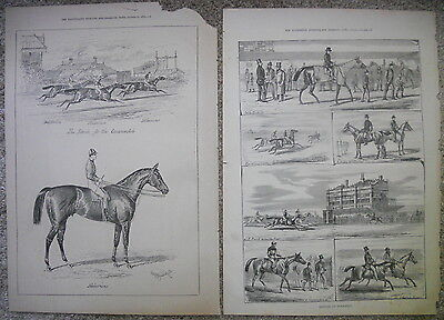 Illustrated Sporting And Dramatic News Horse Illustrations Antique 1874 1877
