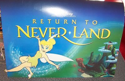 Disney Tinkerbell Tinker Bell Return to Neverland Movie Poster 3 D CUTE RARE!