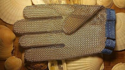 STAINLESS STEEL CHAINMAIL GLOVE. SIZE LG. SaniSafe by Dexter Russell. #SSG2-L