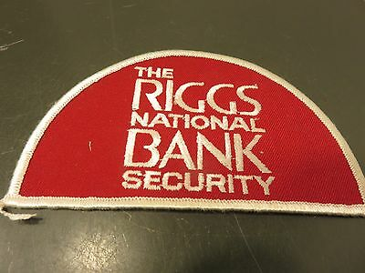 The Riggs National Bank SECURITY Patch Vintage Unused Sew On Unifrom Patch logo