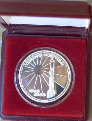 Just Reduced!! 1918-1988 Latvia 1 Unce Silver Proof Commemorative Cased
