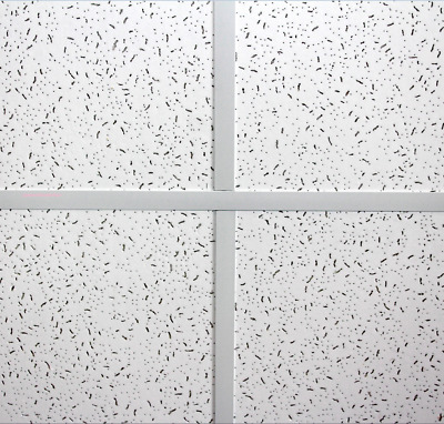 Fine Fissure 10 Tiles Square Edge Suspended Ceiling Tile 595 x 595mm  600 x 600