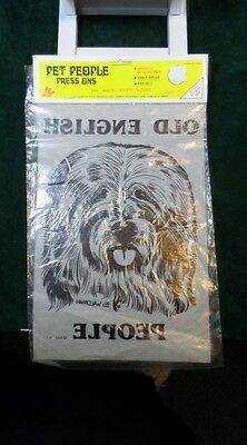 Vintage 1978 Old English Sheepdog Old English People Decal RAF NEW in Package