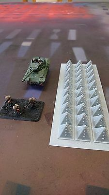 *SCENERY* 15mm tank traps - Flames of War etc.