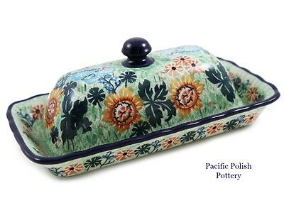 Polish Pottery Unikat Fancy Butter Dish (A65-2257) Poland