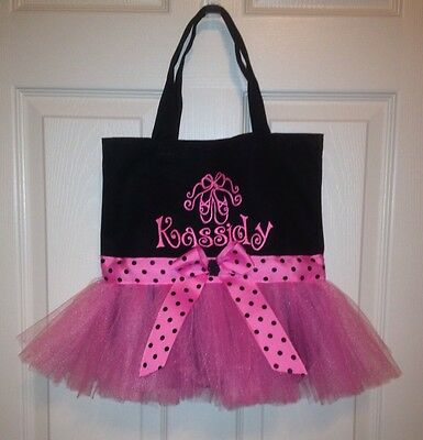 Cute Dance Tutu Tote Bag With Free Personalization!!! Colors Can Be Changed