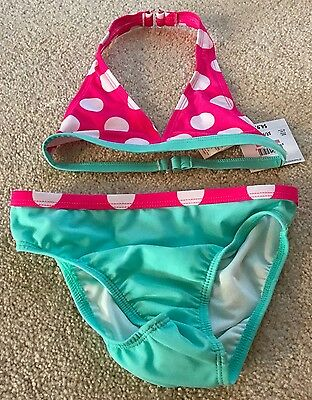 Toddler Girl's Op 2 Piece Polka-Dot Bikini Swim Suit-5T-Nwt!