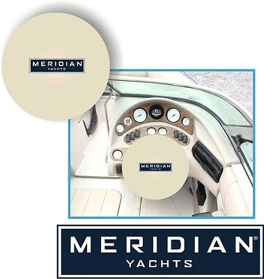 WHITE 100% Micro Fiber  MERIDIAN YACHTS Stretchable Steering Wheel Cover