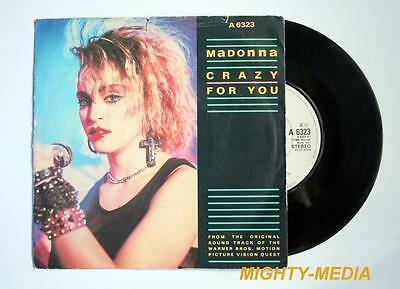 "MADONNA  - CRAZY FOR YOU - 7"" Vinyl Record : NR MINT (p145)"