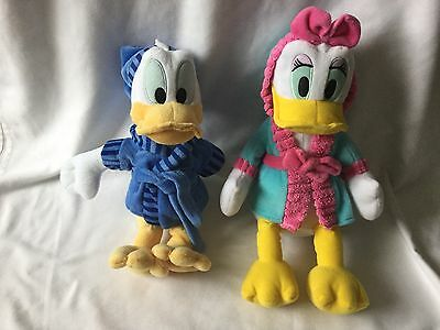 "Daisy and Donald Duck soft toys in Dressing Gowns Plush Walt Disney 13""/14"" 💖"