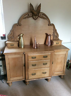Antique Victorian Pine Sideboard Chiffonier Farmhouse Kitchen Country Kitchen