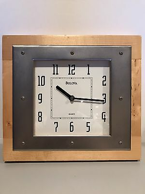Bulova Wood and Metal Quartz Wall Clock ONE OF A KIND EXTREMELY RARE!