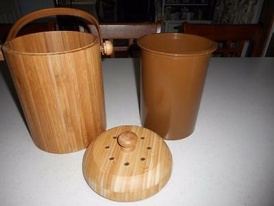 New Bamboo Compost Pail / Bucket Eco Friendly ~  Authentic Bamboo Free Shipping*