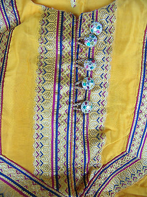 India Boho Embroidered Tunic Style India 3-Piece Pants Top Vest Belly Dancer