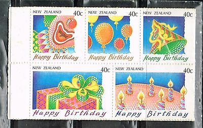 (13-355) 5 Mint Birthday Postage sTamps from New Zealand
