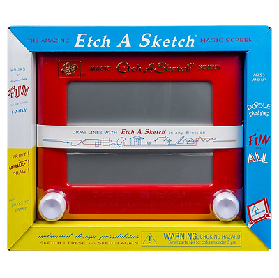 New Classic Etch A Sketch Kids Magnetic Drawing Board Children Doodle Sketcher