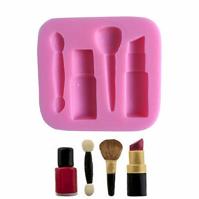 Lipstick Make up Tools Silicone Mould Fondant Cake Topper Modelling Tools Mold