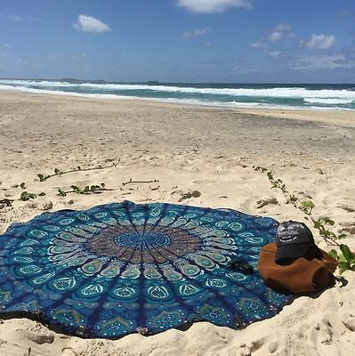Women Fashion Round Blanket Beach Towel Chiffon Cappa Tippet Coat Yoga Mat