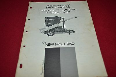 New Holland 352 Grinder Mixer Assembly Information Operator's Manual DCPA8