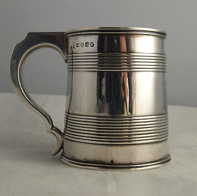 Fine George III Solid Silver Mug - London 1811