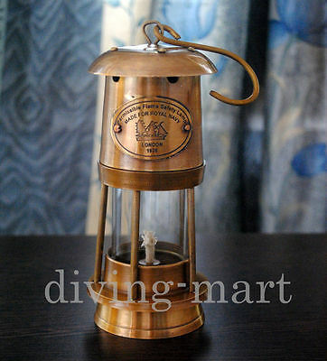 New Antique Vintage Style Brass Nautical Miner Ship Lantern Oil Lamp Maritime 6""