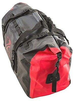 TekLite Pro Waterproof Motorcycle Luggage Roll Top Dry Bag Tail Pack 60L Blk/Red
