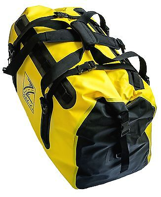 TekLite Pro Waterproof Motorcycle Luggage Roll Top Dry Bag Tail Pack 60L Yellow