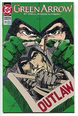 Green Arrow 79 1st Series DC 1993 NM Outlaw Wanted Poster Cover Mike Grell