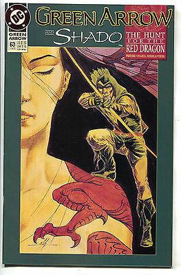 Green Arrow 63 DC 1992 NM- Hunt For The Red Dragon Shado Mike Grell
