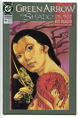 Green Arrow 64 DC 1992 NM- Hunt For The Red Dragon Shado Mike Grell