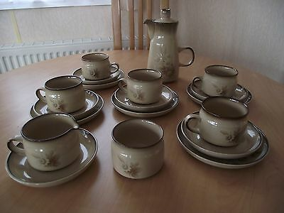 Denby Pottery - `Memories` Pattern - Teaset Items - c1979-1987
