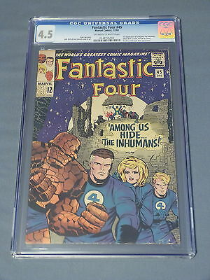 Fantastic Four #45 CGC 4.5 (Off-White to White Pages) - 1st App of Inhumans
