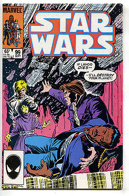 Star Wars 99 Marvel 1985 FN Luke Skywalker Han Solo Lando Calrissian
