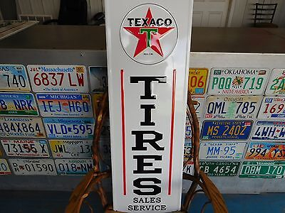 Texaco Tires Sales Service Sign
