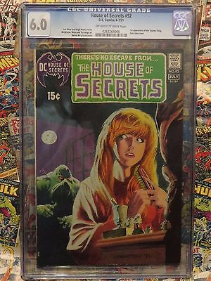 HOUSE OF SECRETS #92 JUL 71 - 1st SWAMP THING! BERNIE WRIGHTSON! CENTS COPY! CGC