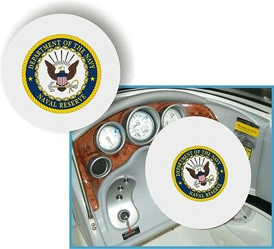 WHITE 100% Micro Fiber NAVY RESERVE Stretchable Steering Wheel Cover