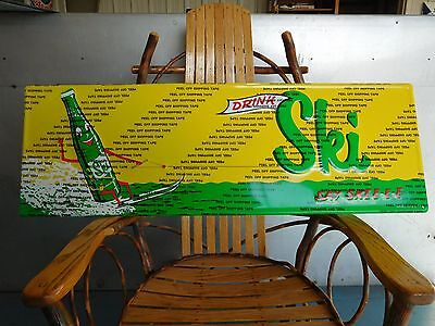Ski Soda Sign Metal Embossed Made In Usa Licensed Product By Double Cola