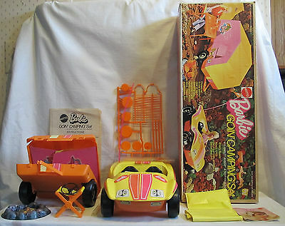 1973 Mattel Barbie Goin Camping Set Breezy Buggy Pop-Up Tent Unplayed w/box 8669