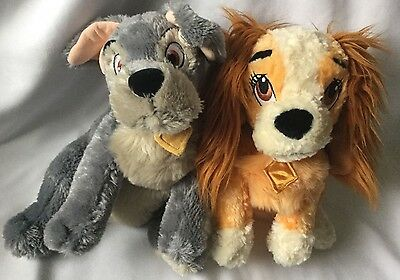 Lady and the Tramp soft toys plush dogs Disney store Original Authentic toys ��