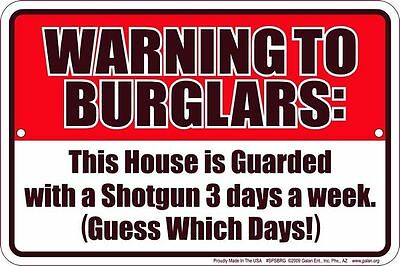 WARNING to BURGLARS fun sign for Western Country Music Horse Riding Rodeo fan