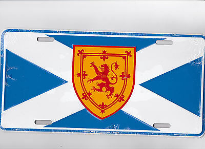 Scotland St Andrews Cross  metal license plate for fan of the Scottish Pub Bar